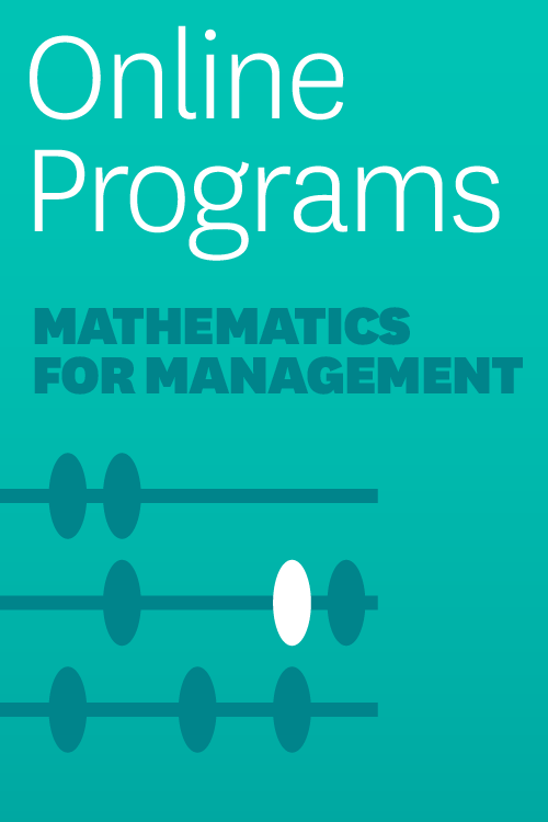 Mathematics for Management: A Self-Paced Learning Program: Algebra Section ^ 5001HB