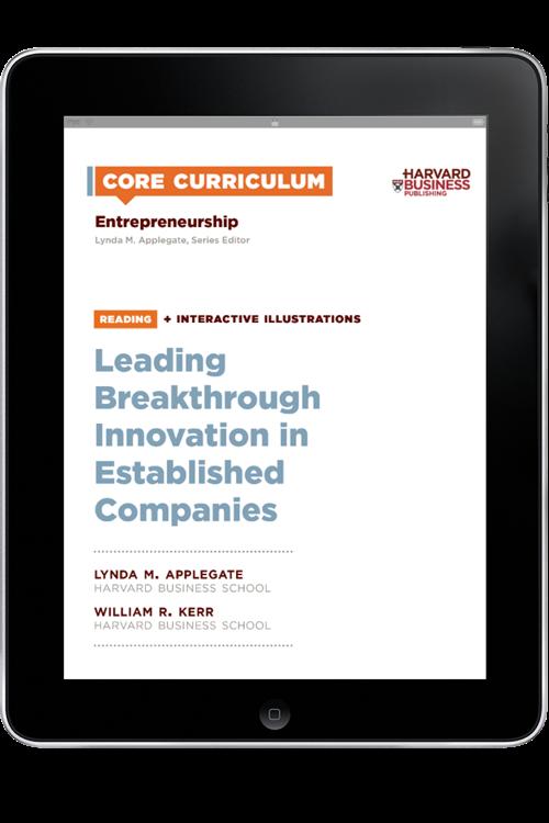 Entrepreneurship Reading: Leading Breakthrough Innovation in Established Companies ^ 5272