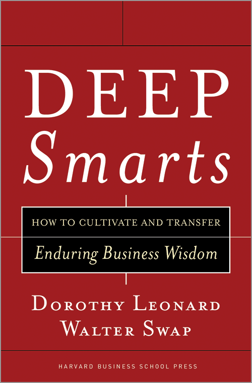 Deep Smarts: How to Cultivate and Transfer Enduring Business Wisdom ^ 5283