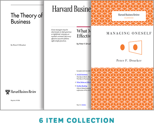Get the Right Things Done: The Drucker Collection (6 Items) ^ 10057