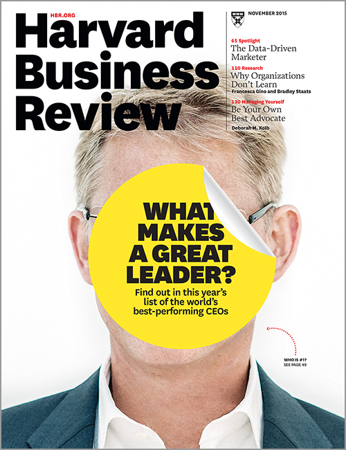 Harvard Business Review, November 2015 ^ BR1511
