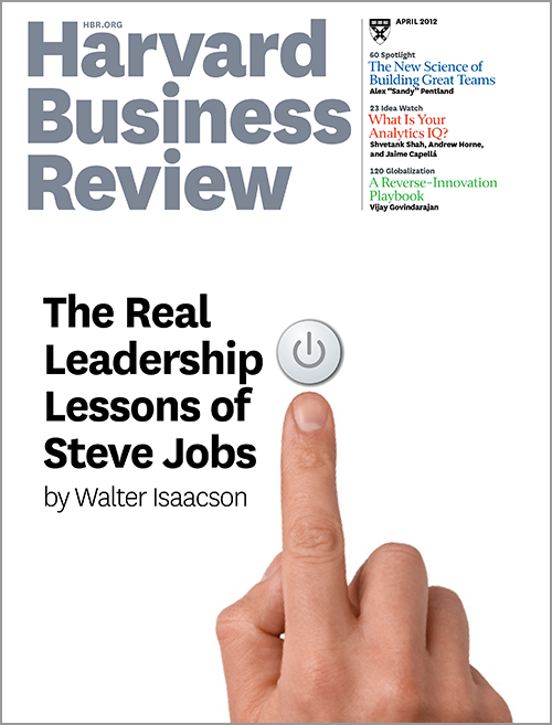 Harvard Business Review, April 2012 ^ BR1204