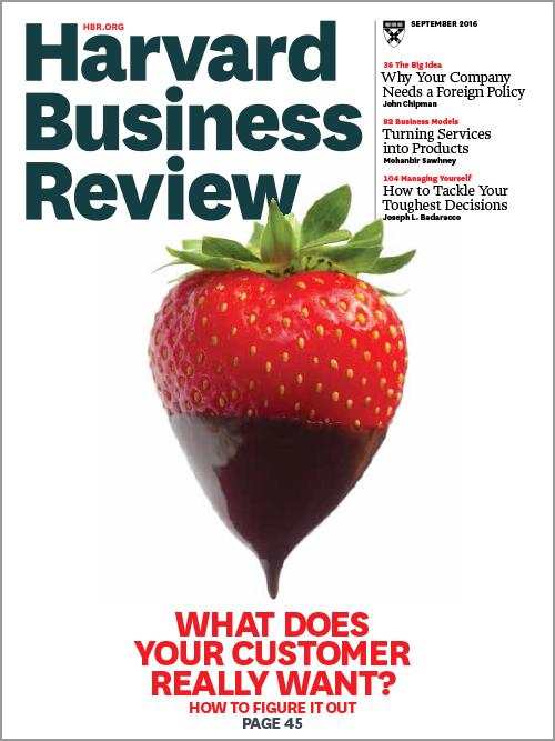 Harvard Business Review, September 2016 ^ BR1609