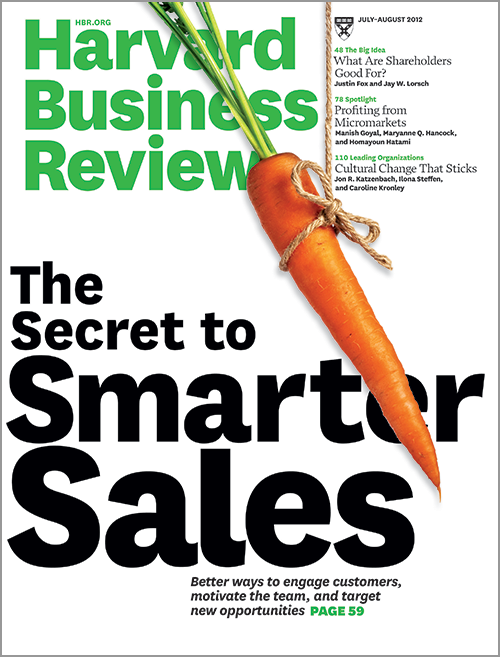 Harvard Business Review, July/August 2012 ^ BR1207