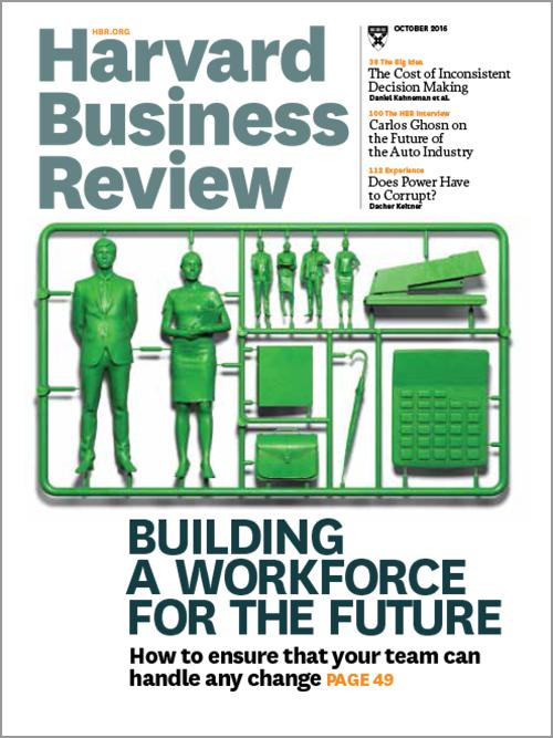 Harvard Business Review, October 2016 ^ BR1610