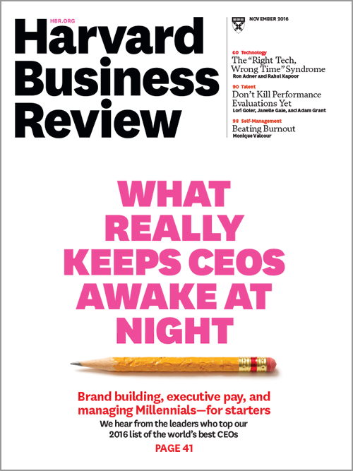 Harvard Business Review, November 2016 ^ BR1611