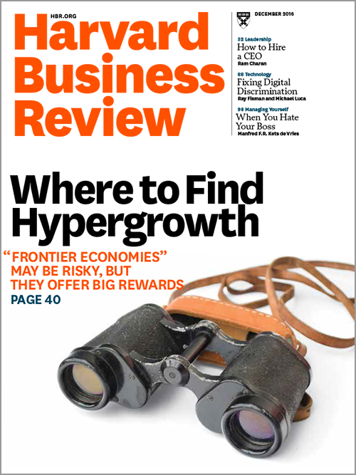 Harvard Business Review, December 2016 ^ BR1612