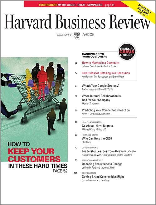 Harvard Business Review, April 2009 ^ BR0904