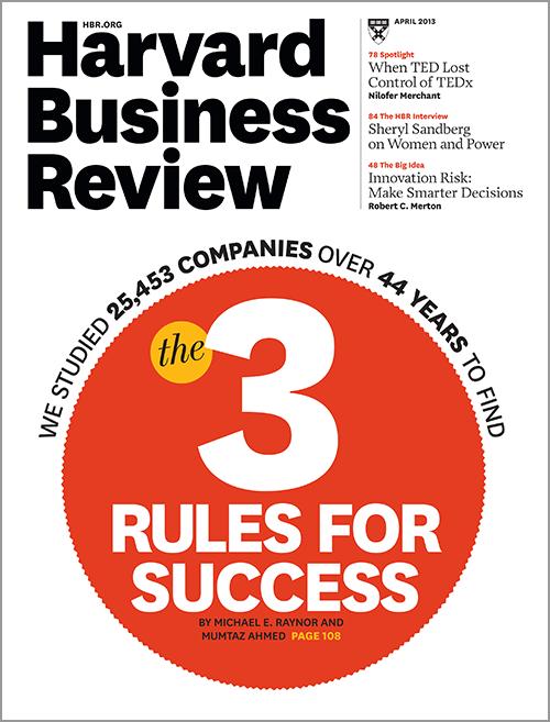 Harvard Business Review, April 2013 ^ BR1304