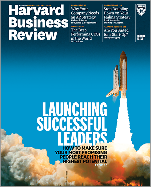 Harvard Business Review, November/December 2017 ^ BR1706