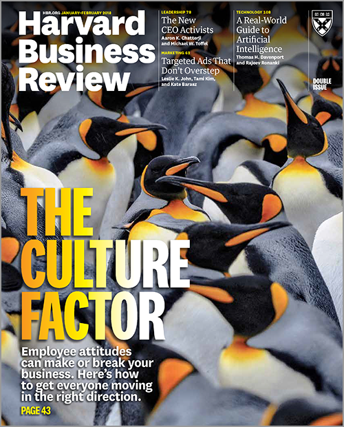 Harvard Business Review, January/February 2018 ^ BR1801