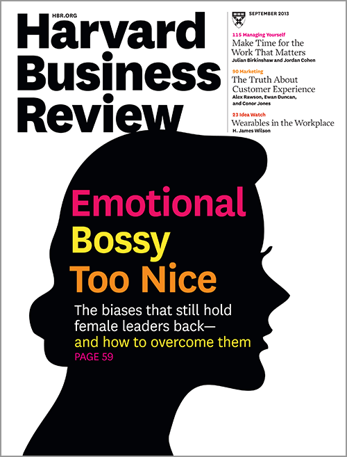 Harvard Business Review, September 2013 ^ BR1309