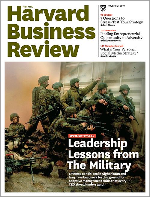 Harvard Business Review, November 2010 ^ BR1011