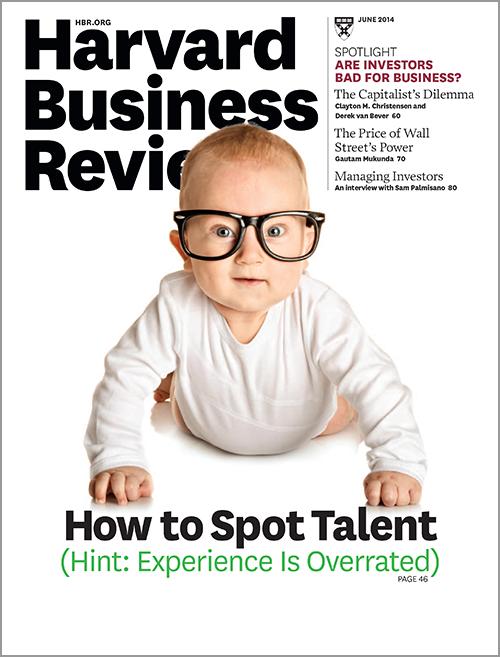 Harvard Business Review, June 2014 ^ BR1406