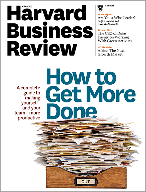 Harvard Business Review, May 2011 ^ BR1105
