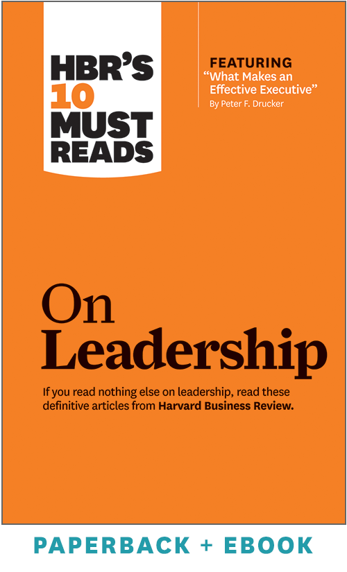 HBR's 10 Must Reads on Leadership (Paperback + Ebook) ^ 1033BN