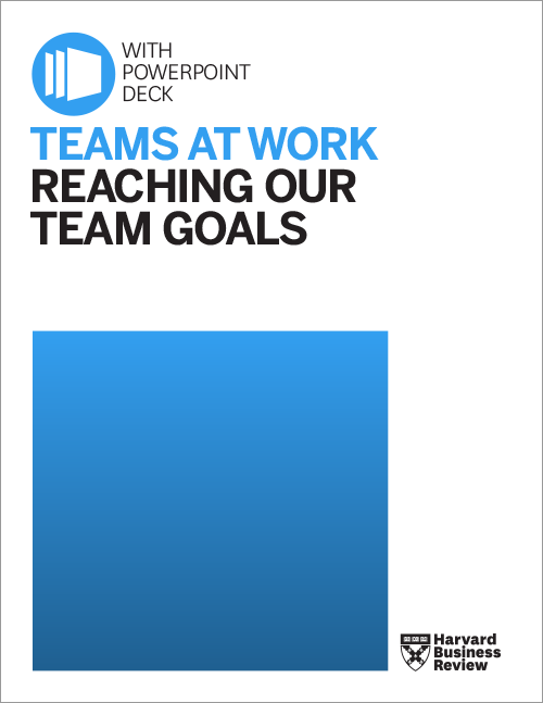 Teams at Work: Reaching Our Team Goals ^ TWGOA1
