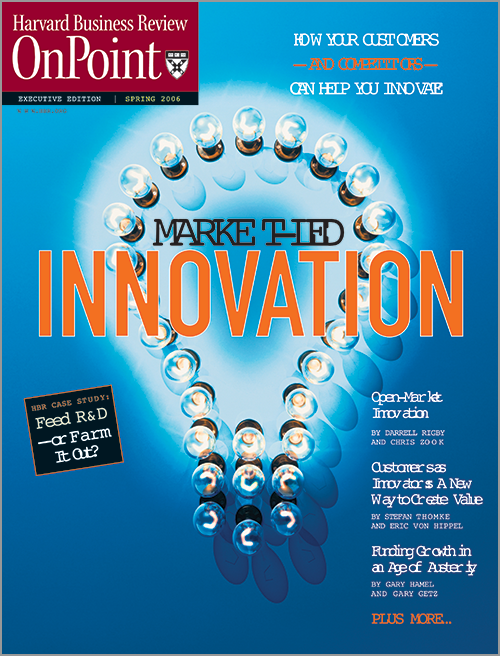 Market-Led Innovation: How Your Customers--and Your Competitors--Can Help You Innovate (HBR OnPoint Executive Edition) ^ 3757