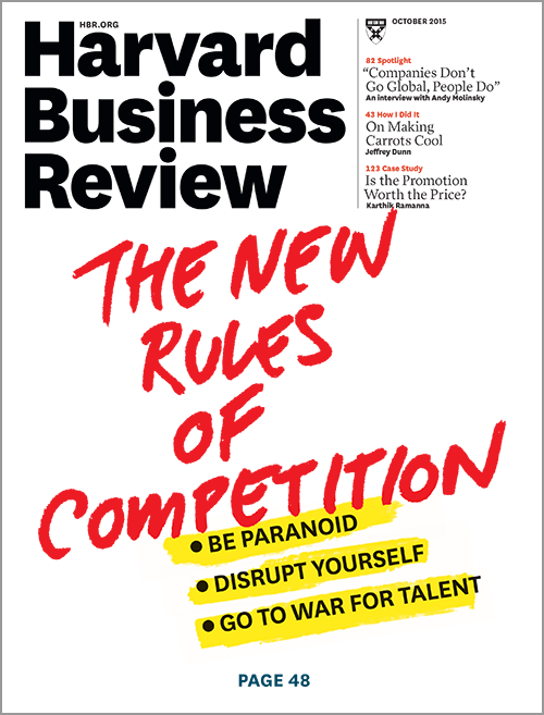 Harvard Business Review, October 2015 ^ BR1510