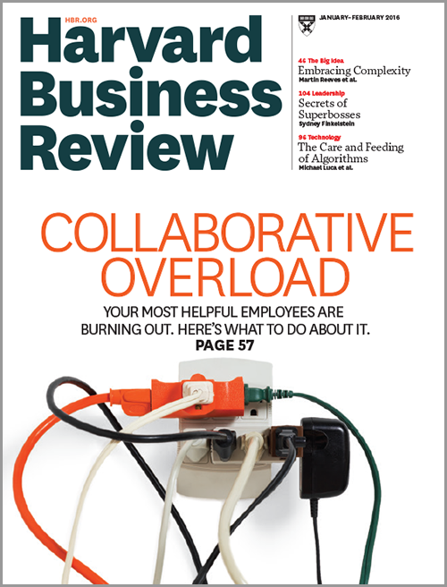 Harvard Business Review, January/February 2016 ^ BR1601