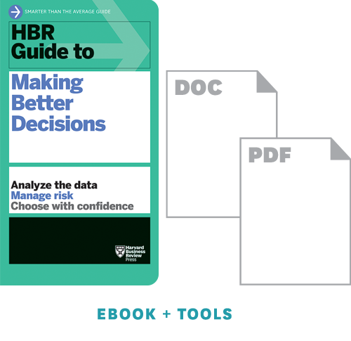 HBR Guide to Making Better Decisions Ebook + Tools ^ 10421