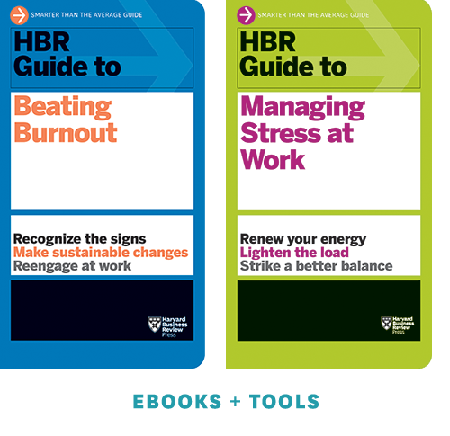 HBR Guides to Managing Stress and Burnout Ebooks + Tools ^ 10501
