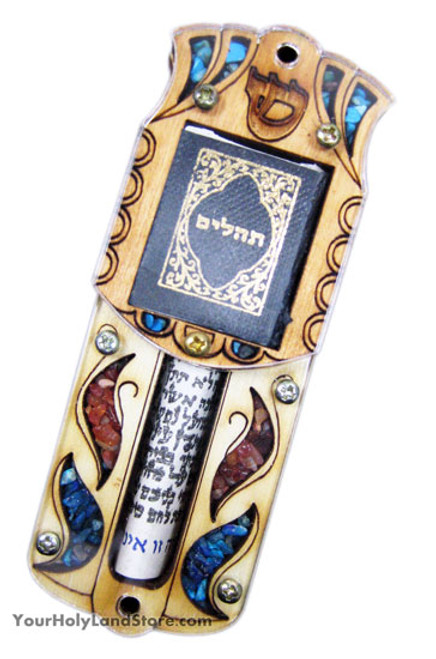 Mezuzah with Scroll and Tehillim Book