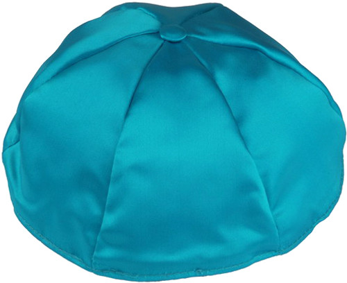 960489112b8c6 Personalized Turquoise Satin Kippah - Your Holy Land Store in ...
