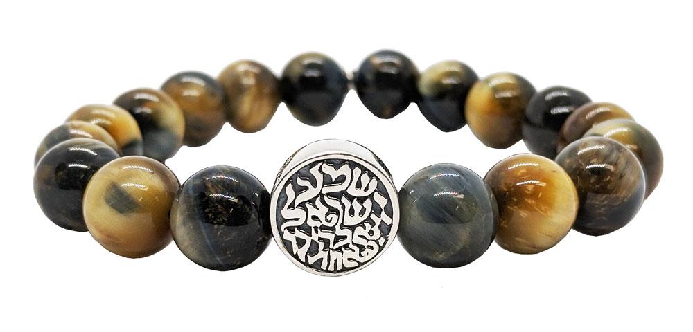 Hippie Chain Elven Jewelry Macrame necklace falcon eye Heilstein Gemstone |
