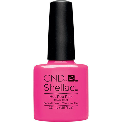 CND Shellac Hot Pop Pink