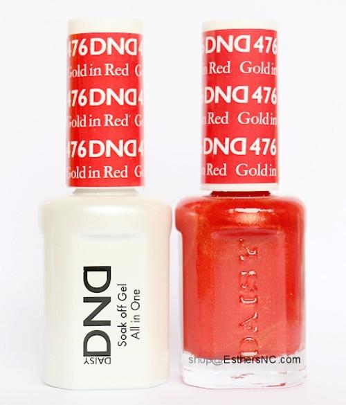 Daisy Gel Polish Gold In Red 476