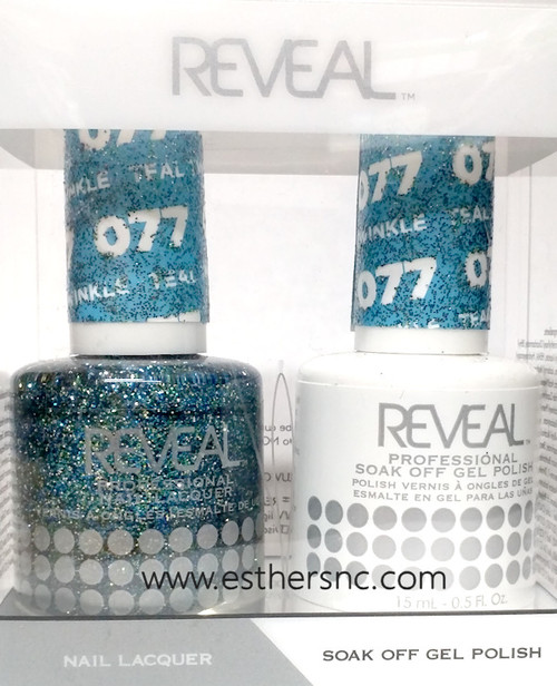 Reveal Gel Polish Teal Twinkle #077
