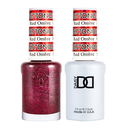 Daisy Gel Polish Red Ombre #677