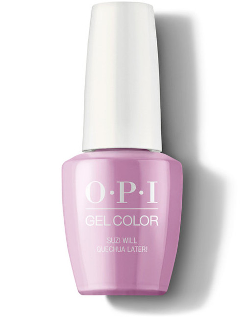 OPI GelColor Suzi Will Quechua Later!