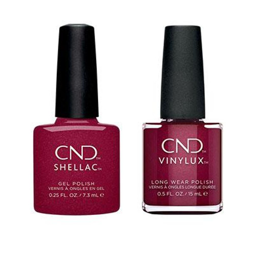 CND Shellac Vinylux Crystal Alchemy Rebellious Ruby Set