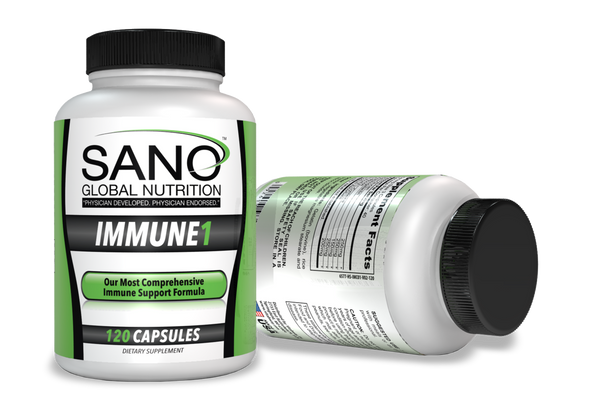 Our flagship product is specifically designed to significantly enhance the immune system, reduce oxidative stress, decrease allergic sensitivity and decrease inflammation. Based upon 30 plus years of clinical research, Immune 1 is the most effective formula we have ever developed. Made from all plant sources, Immune 1 is safe and effective for all ages with no known toxic side effects.  Beta 1,3‐1,6 Glucans—250 mg Beta 1,3‐1,6 Glucans has been well documented in research as a powerful immune system stimulant for both identification and destruction of invading proteins. Source: Brewers Yeast Arabinogalactan—250 mg Arabinogalactan endo‐1,4‐beta galactosidase triggers all levels of immune response while triggering both innate and acquired immune reactions. Source: Conifer seed extract D‐Ribose—100 mg D‐Ribose increases both oxygen and protein metabolism increasing the effectiveness of the immune response while reducing the time for the dosage to take effect. N‐Acetylcysteine—50 mg NAC serves the formula on several levels. I removes unwanted cytokines left behind by destruction of the invading proteins. It is converted to L‐Glutathione, the most powerful antioxidant in the body. It also triggers secondary immune cells while suppressing allergic reactions. Source: Pepper extracts Sodium Ascorbate—200 mg Our buffered vitamin C serves several purposes. Ascorbates trigger a rapid immune response. It also serves as an effective antioxidant. It also offers chelation for remnant cellular waste when the invading proteins are destroyed. Source: Camu Camu fruit extract The recommended dosage is 3 capsules daily. This includes children who are eating solid foods through adulthood. Infant dosages of 2 capsules daily mixed with water, juice or formula is safe and effective. Severe health issues may require increased dosages but should not be done without first consulting a physician familiar with the ingredients.