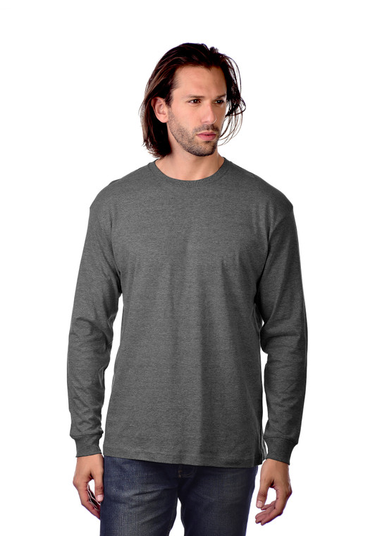 5.5 oz., soft-washed, 100% combed ring-spun cotton, except Athletic Heather (85%/15% cotton/viscose) and all other Heathers (60%/40% cotton/polyester).