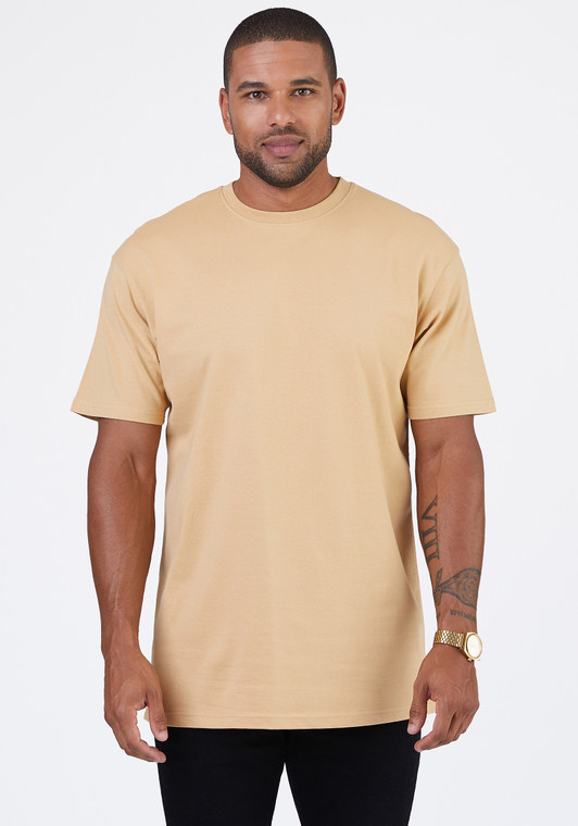 6.5 oz., soft-washed, 100% combed ring-spun cotton, except Charcoal Heather and Carbon Grey (60% cotton/40% polyester).