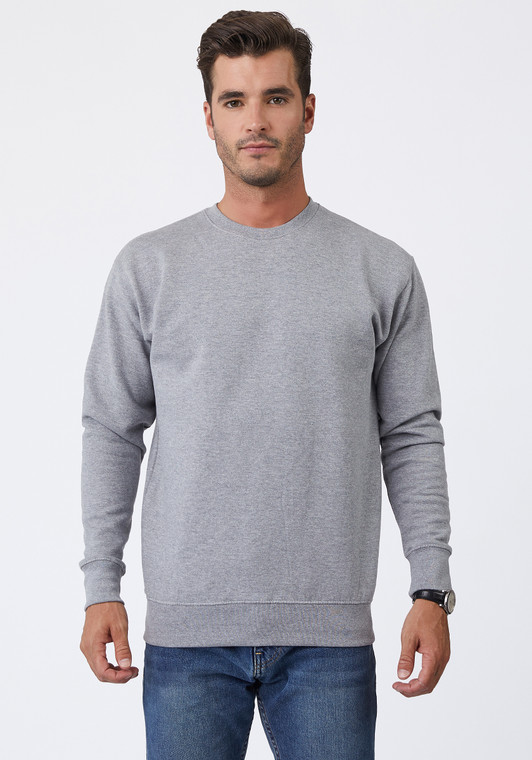 Unisex. Ultra soft hand. Side-seamed. Tightly knit. 2-needle cover stitching at collar, cuffs and waistband. Self-fabric 1/2 moon patch on neck for custom branding. Superior printability. 8.5 oz. 3-end fleece. 65% cotton/35% polyester* (*Exceptions: Heathers: 55% cotton/45% polyester). 100% cotton face. Soft-washed.
