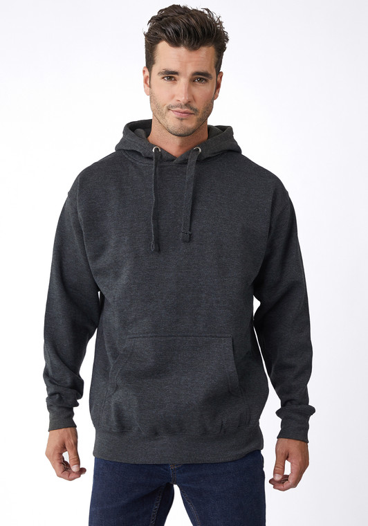 Unisex, ultra soft hand, side-seamed, tightly knit, 3-end cotton faced, 3-panel hood, flat draw cords, self fabric 1/2 moon patch on neck for custom branding, 2 needle cover stitching at cuffs and waistband, single needle edge stitch at collar, silver grommets.Superior printability. 8.5 oz., 3-end fleece, soft-washed. 100% cotton face. 65% cotton/35%polyester, except Oatmeal Heather (99% cotton/1%polyester), and all other Heathers (60% cotton/40%polyester).