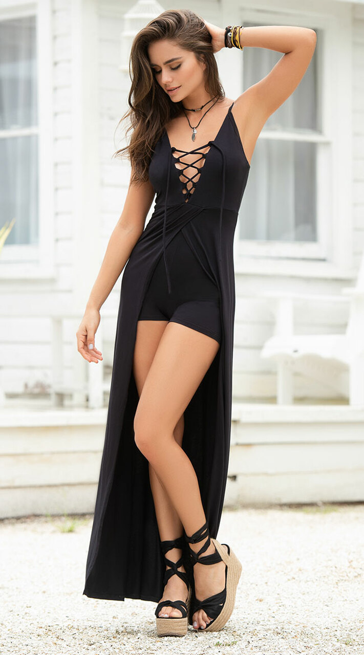 5b4102d493a Mapalé 4633 - Sexy Black Romper Dress