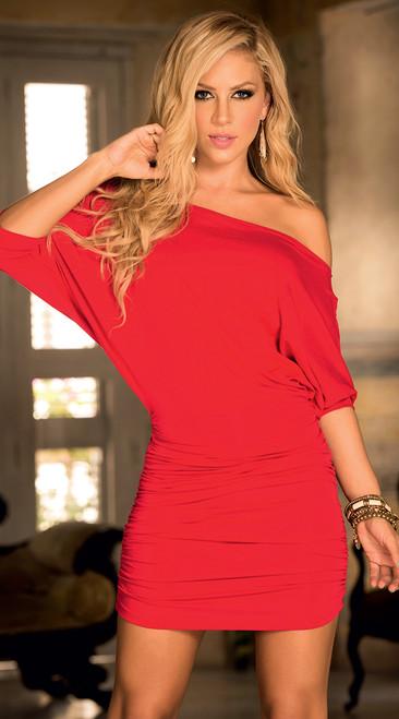 Red Off The Shoulder Mini Dress