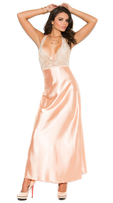 Peach Charmeuse Night Gown