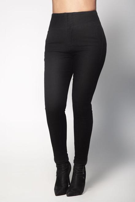 High Waist Butt Lifting Black Jeans