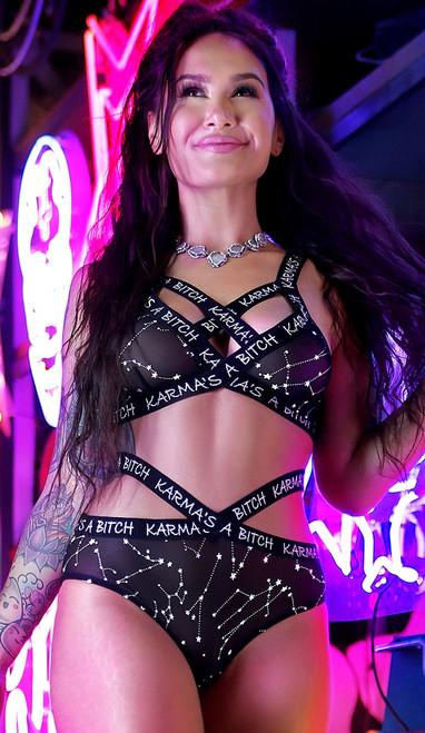 Karma's a Bitch Bralette and Cutout Panty Set
