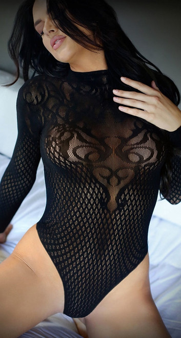 Wicked Game Black Bodysuit