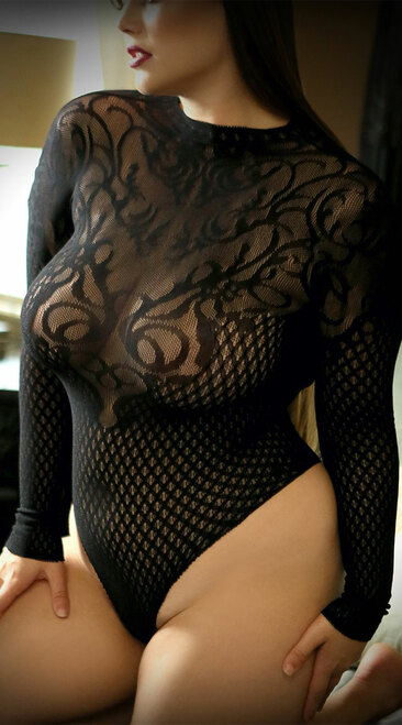 Plus Size Wicked Game Black Bodysuit