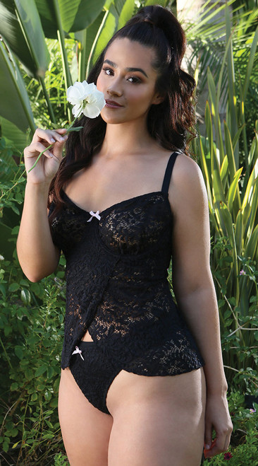 Plus Size Midnight Garden Tulip Babydoll Set