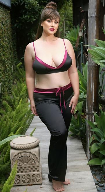 Plus Size Lynn Bralette and Drawstring Pant Set