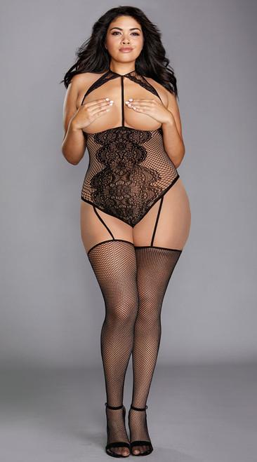 Plus Size Ultra Sexy Cupless Teddy Bodystocking